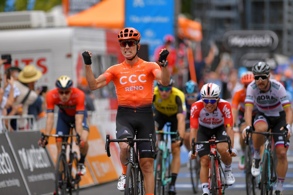Patrick Bevin usurps favourites to win Tour Down Under stage two