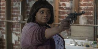 Octavia Spencer as Sue Ann points a gun in Ma