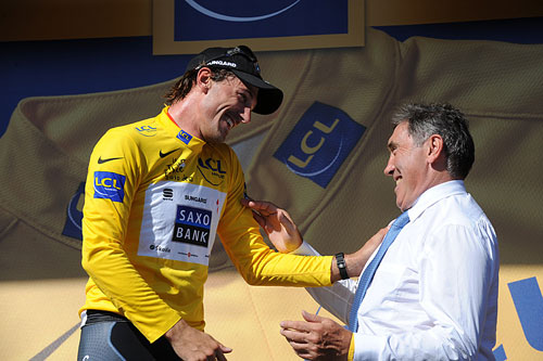 Fabian Cancellara and Eddy Merckx, stage one, Andy Jones at the Tour de France 2010