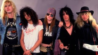 Guns N' Roses pictured in 1987