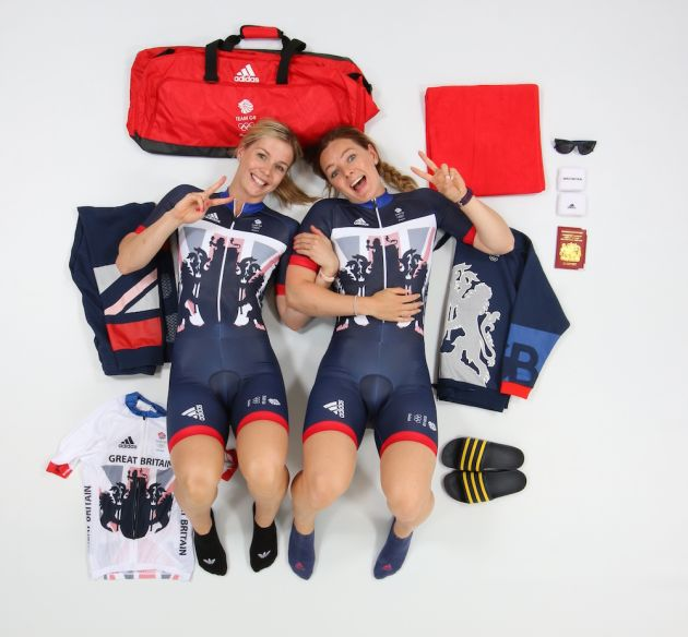 Katy Marchant and Becky James - cycle sprint