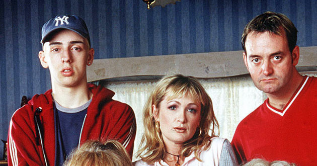 Ralf Little and Caroline Aherne in The Royle Family