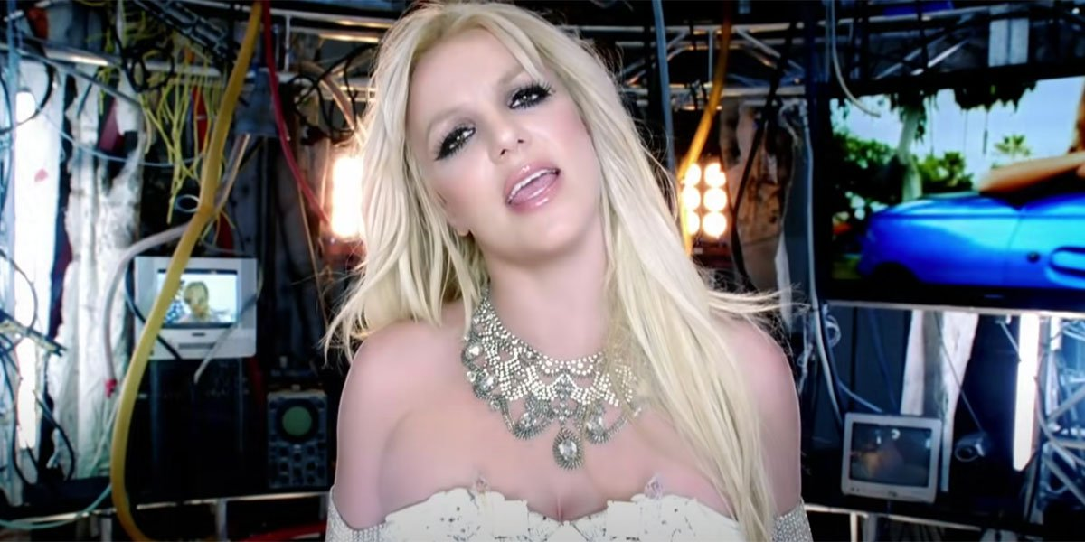 Britney Spears in the Hold it Against me music video