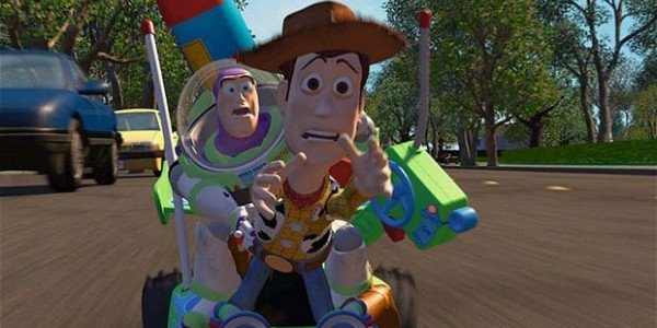 Toy Story image of buzz and woody driving
