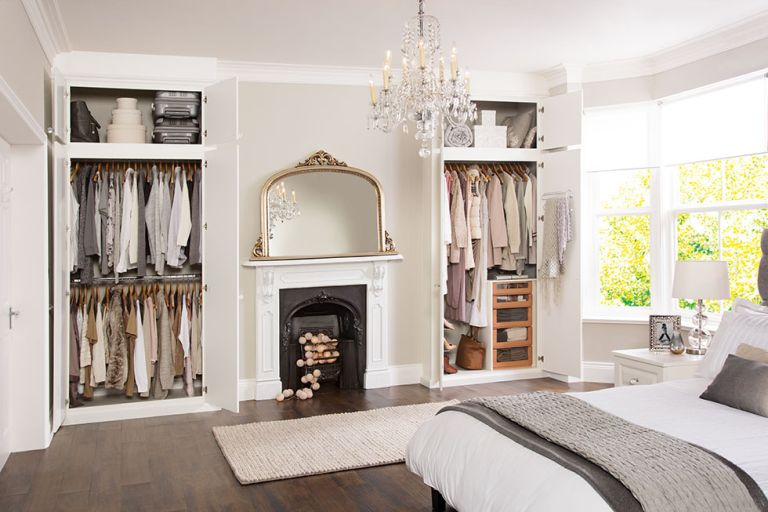 bedroom ideas for couples with built in wardrobes