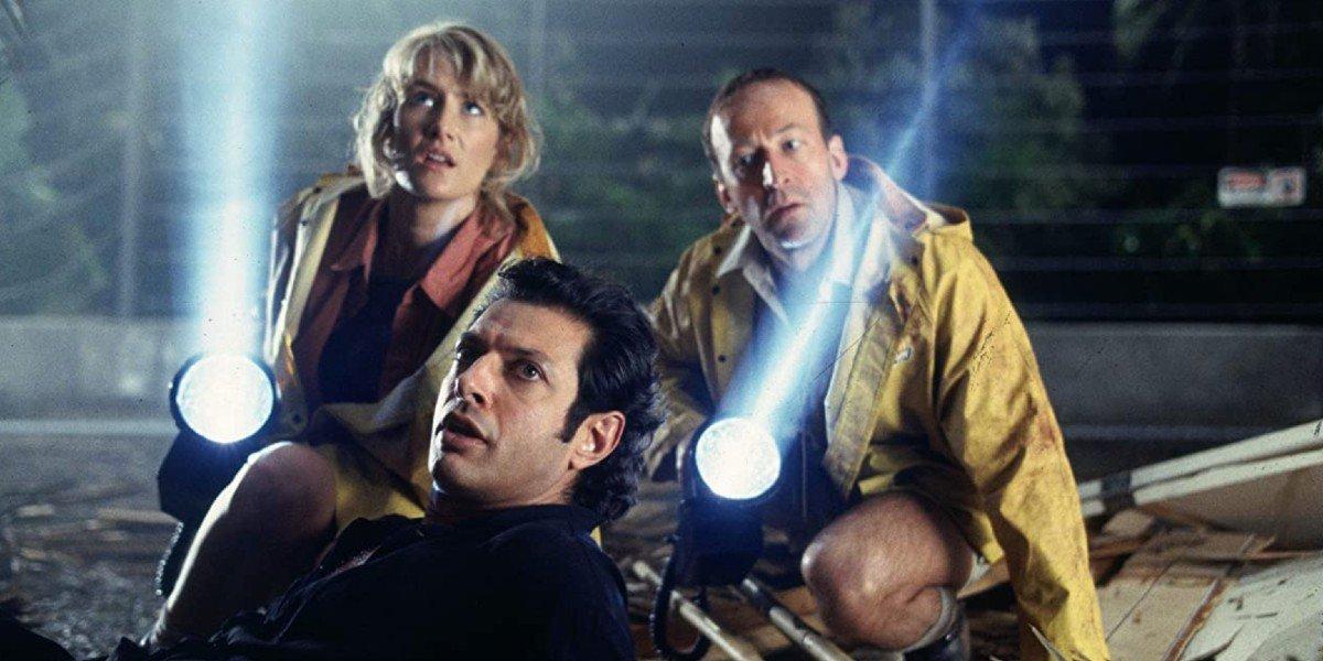 Laura Dern and Jeff Goldblum in Jurassic Park