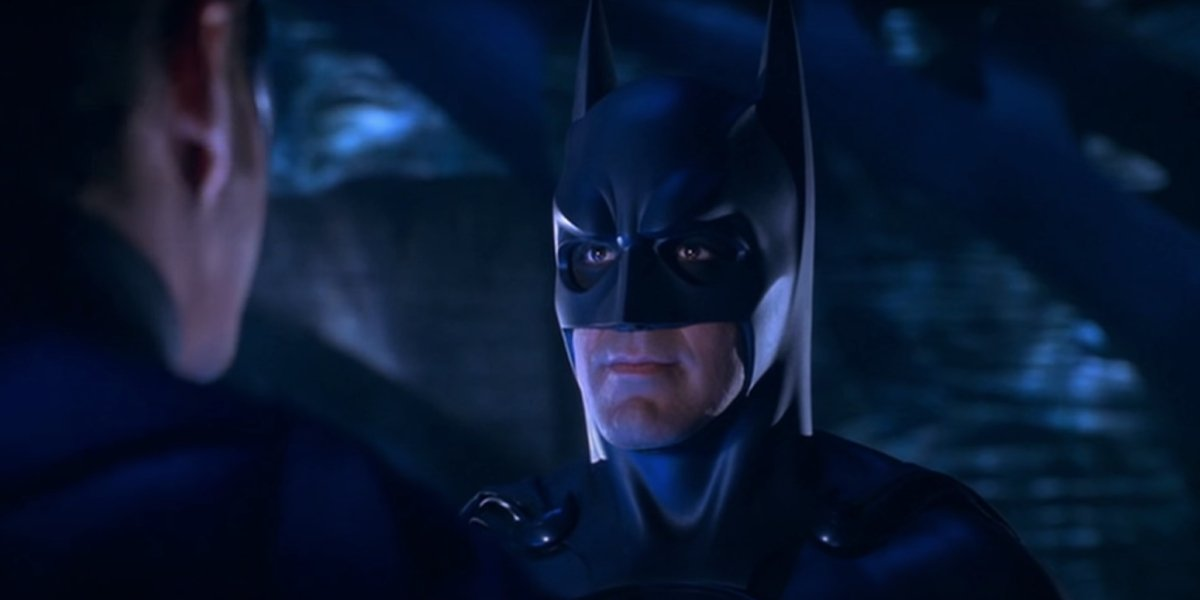 Chris O'Donnell and George Clooney in Batman & Robin