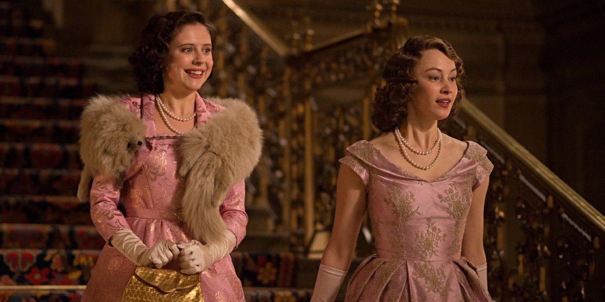 Bel Powley and Sarah Gadon in A Royal Night Out