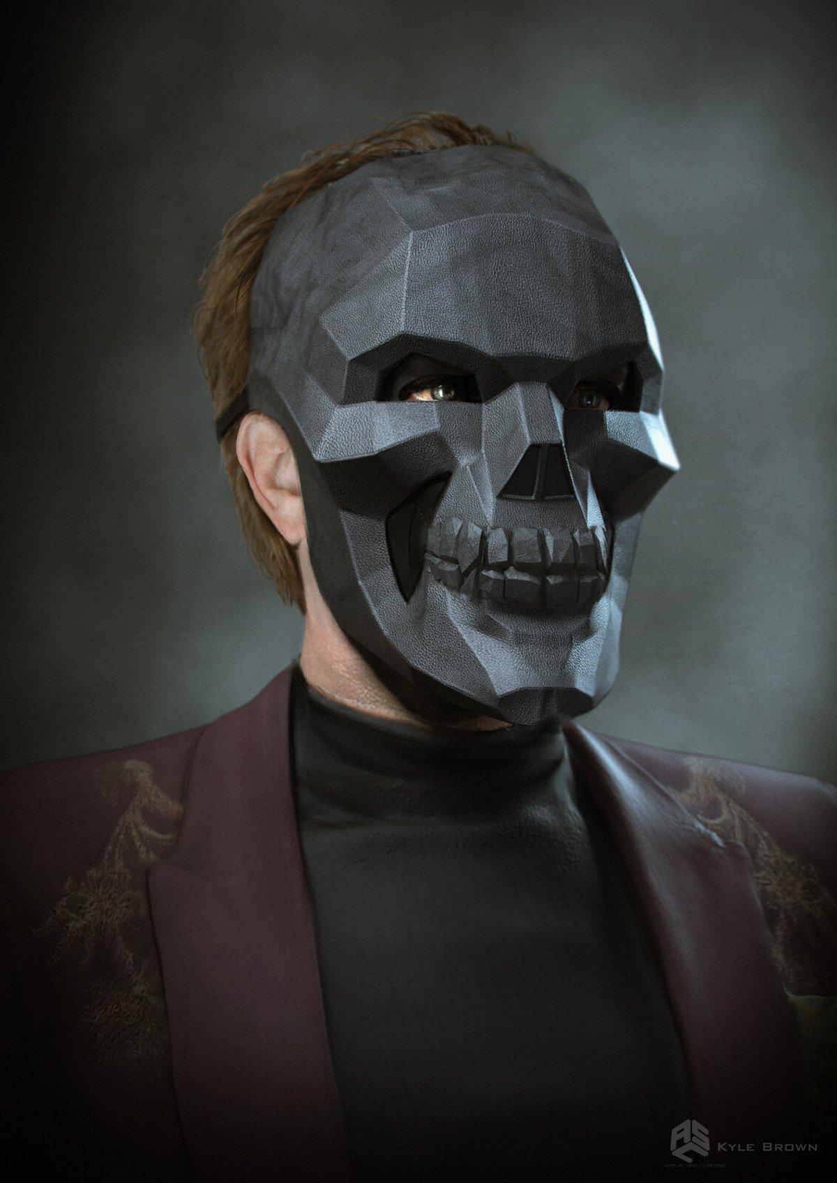 Birds of Prey concept art, Black Mask