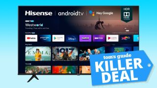 Hisense 4K TV with Tom's Guide deal tag