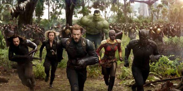 Avengers Infinity war Winger Soldier War Machine Black Widow Captain America Hulk Okoye Black Panthe