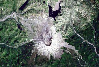 Landsat Photo of Mount St. Helens