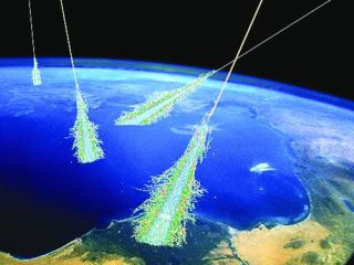 Cosmic Rays Illustration
