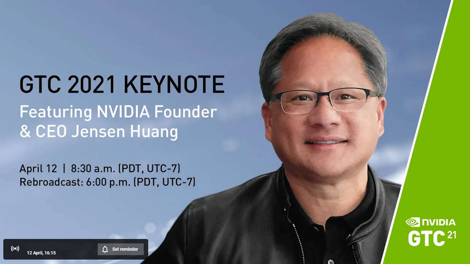 Watch Nvidia's GTC keynote from Jen-Hsun's kitchen here. He might even give you an RTX 3090