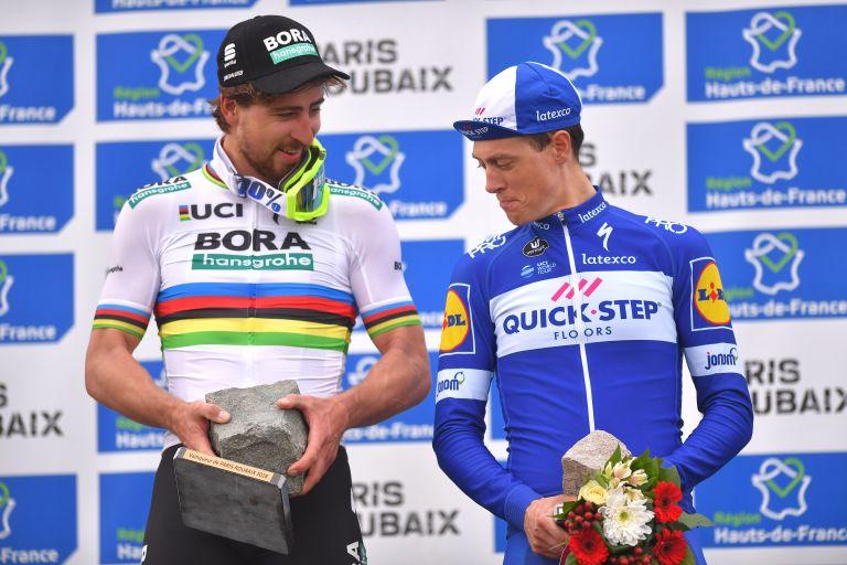 Peter Sagan and Niki Terpstra at Peris-Roubaix 2018