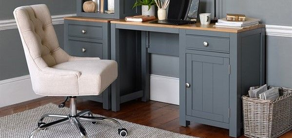 best desk chairs - Cotswold Company Upholstered Office Chair