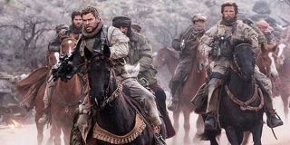 12 Strong Chris Hemsworth rides in with his unit