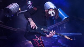 Jim Root of Slipknot performs on stage on day 2 of Download Festival 2019 at Donington Park