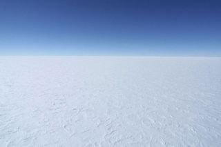 View of the East Antarctic Ice Sheet from DC-3.