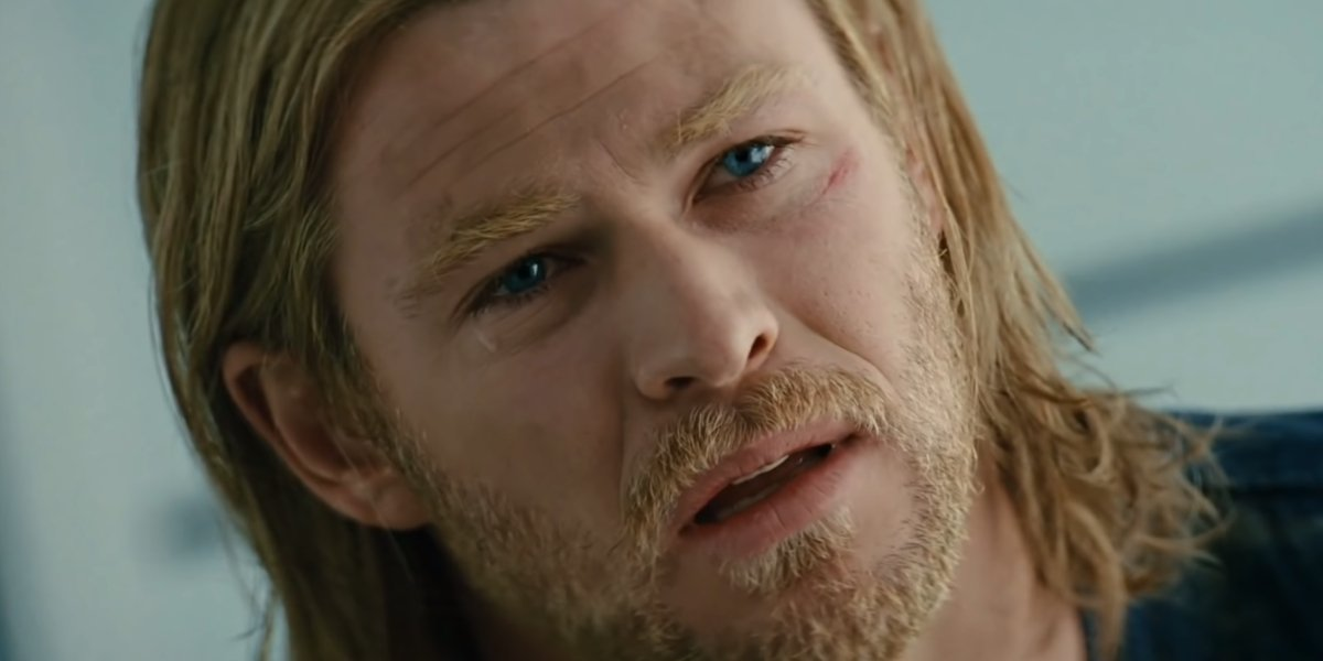 Chris Hemsworth as a disappointed God of Thunder in Thor