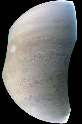 Jupiter Pearl Storm Seen By NASA's Juno Spacecraft