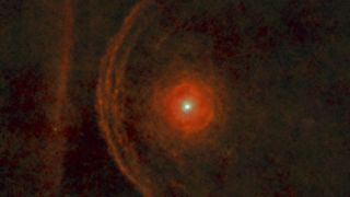 In about 5,000 years, Betelgeuse is going to run straight into a line of dust (left).