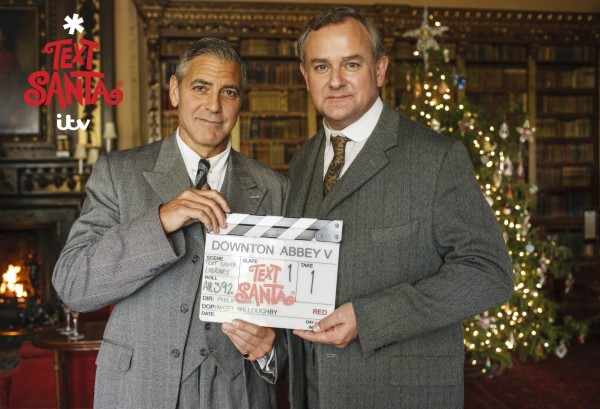 George Clooney with Downton Abbey star Hugh Bonneville