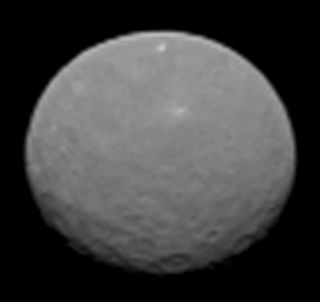 NASA's Dawn spacecraft took this image of the dwarf planet Ceres on Feb. 4, 2015 at a distance of about 90,000 miles (145,000 kilometers) from the dwarf planet.