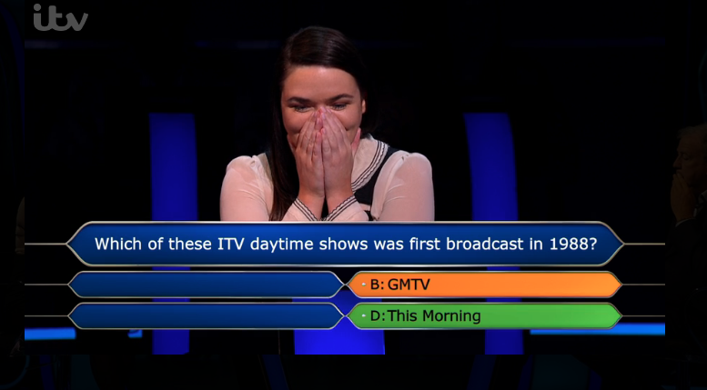 Millionaire contestant gets This Morning question wrong