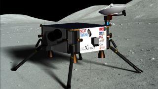 Artist's interpretation of the Next Giant Leap team's hopping lunar lander.