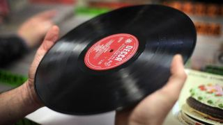 Vinyl record shopping Record Store Day