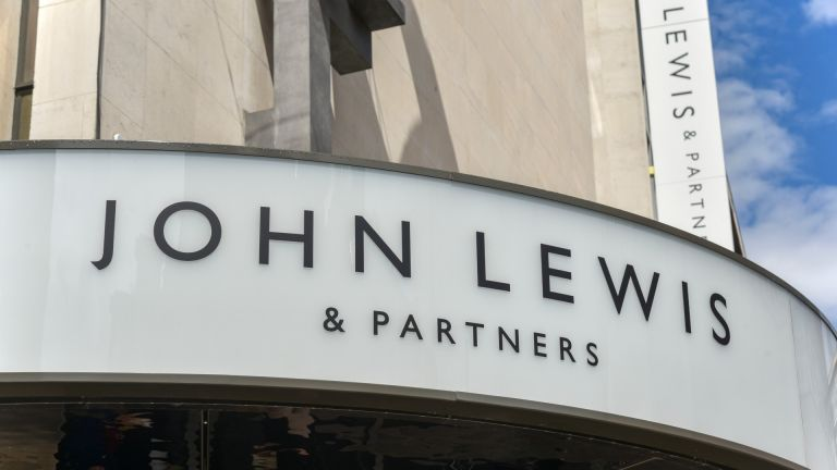 A sign on the Oxford Street branch of John Lewis, as the Partnership is poised to: cut jobs, axe the annual bonus, close one of its London headquarters and permanently shutter some stores in response to the coronavirus crisis