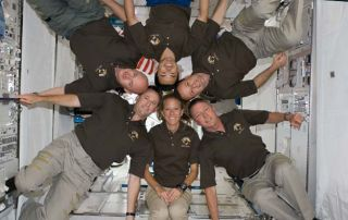 Space Shuttle Astronauts Take Time Off