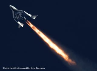 SpaceShipTwo's Rocket Engine in Flight