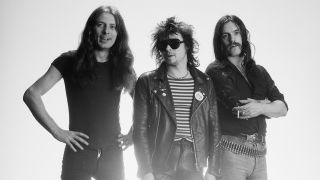"""Fast"" Eddie Clarke, far left, with Phil ""Philthy Animal"" Taylor and Lemmy in 1978"