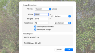 How to resize and crop a photo using Preview on macOS