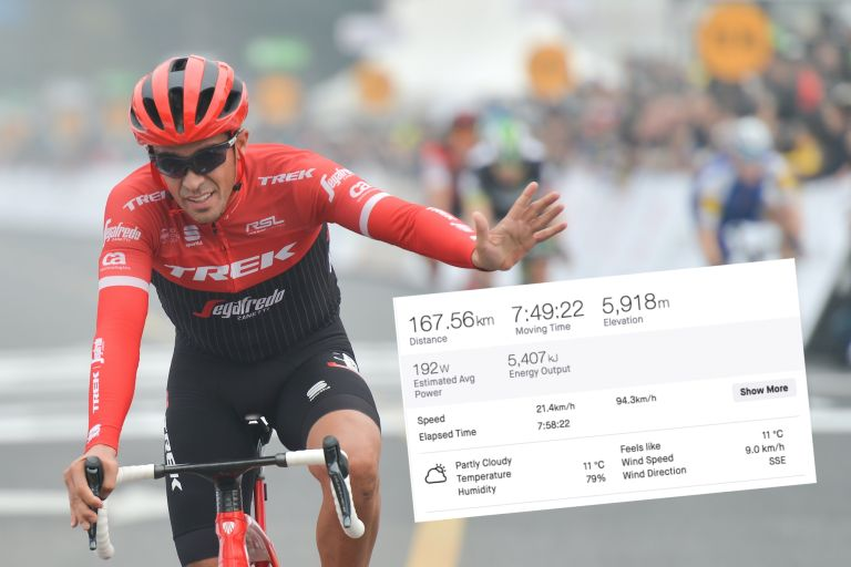 Alberto Contador tried to take on the Tour des Stations 'Everest' event