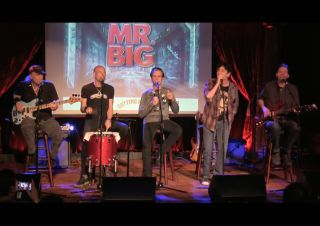 Mr big exclusive live video preview of 39 defying gravity 39 guitarworld for Mr big live from the living room