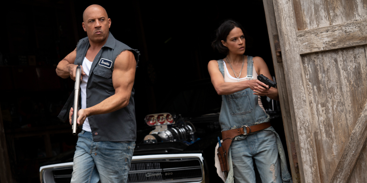 Dom and Letty in F9 Vin Diesel and Michelle Rodriguez