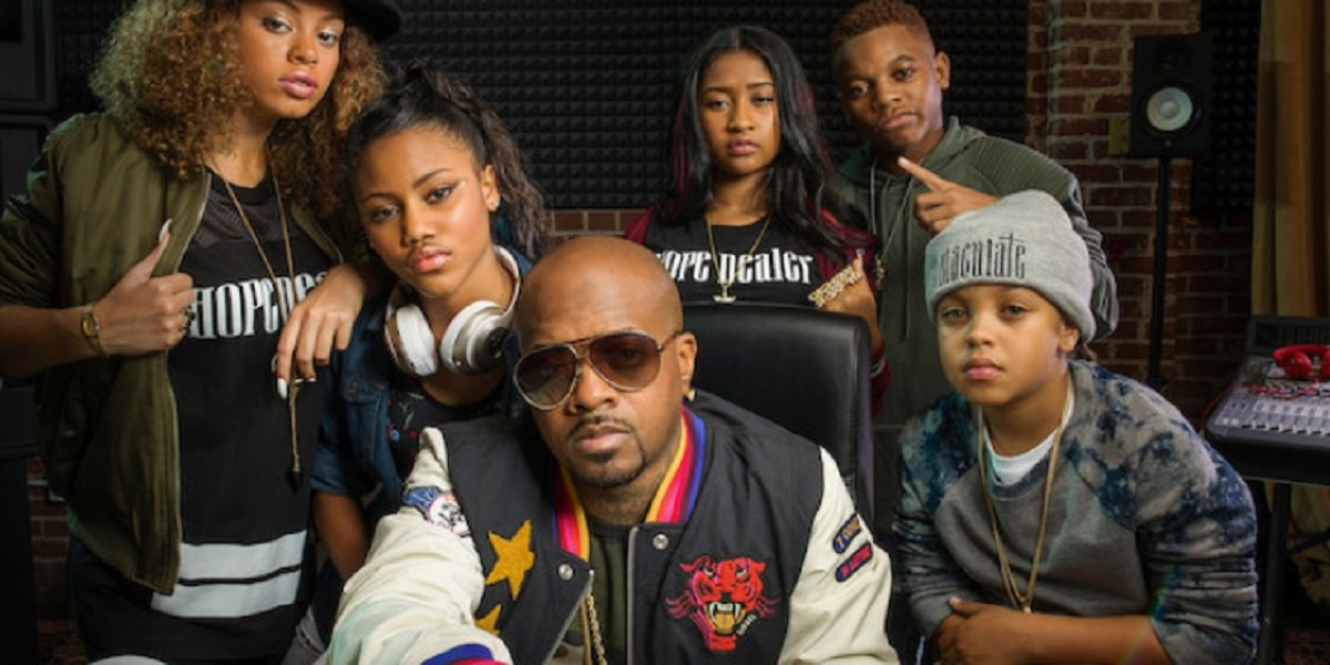 Jermaine Dupri and The Rap Game Season 1 contestants
