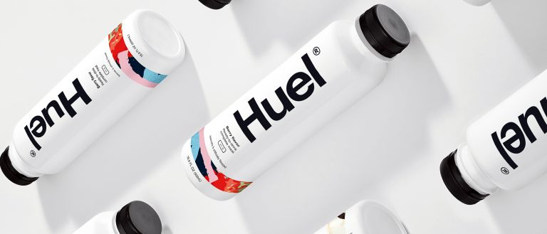 Attractive young, slim people with Huel Ready-to-drink