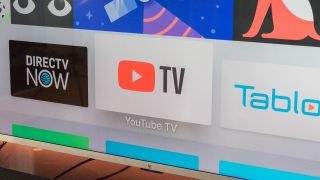 YouTube TV icon on Apple TV