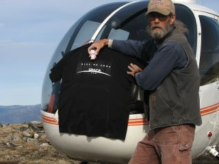 SPACE.com T-shirt recovered from Alaskan bush after ascending toward northern lights