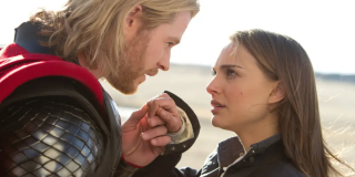 Thor and Jane in the original Thor movie