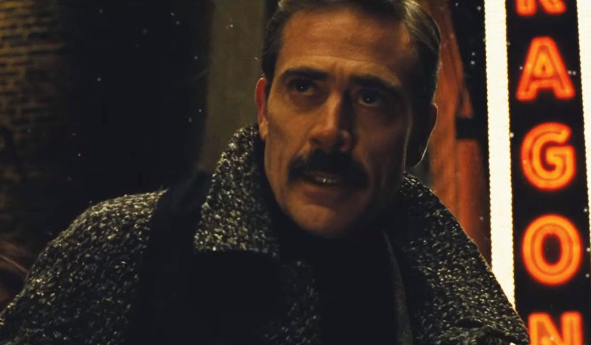 Batman v Superman: Dawn of Justice Jeffrey Dean Morgan looks worried outside of the theater