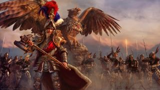 An army of the Empire, complete with griffon, in Total War: Warhammer