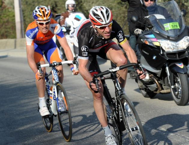 Jens Voigt and Luis Leon Sanchez, Paris-Nice 2012, stage six