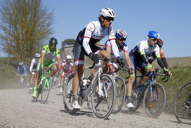 Fabian Cancellara in the 2015 Strada Bianche race