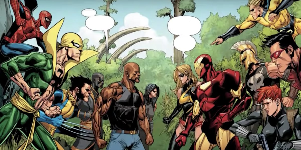 Secret Avengers and Mighty Avengers meet during the Secret Invasion