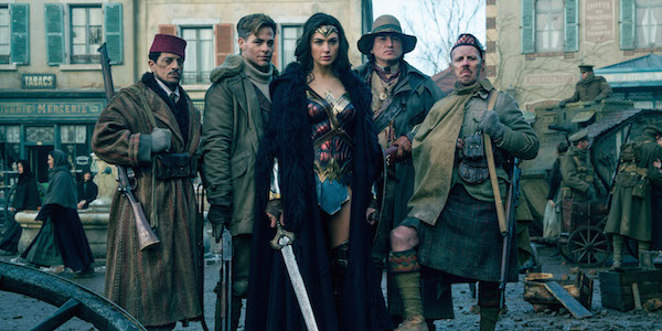 Wonder Woman with Steve, Sameer, Charlie and Chief